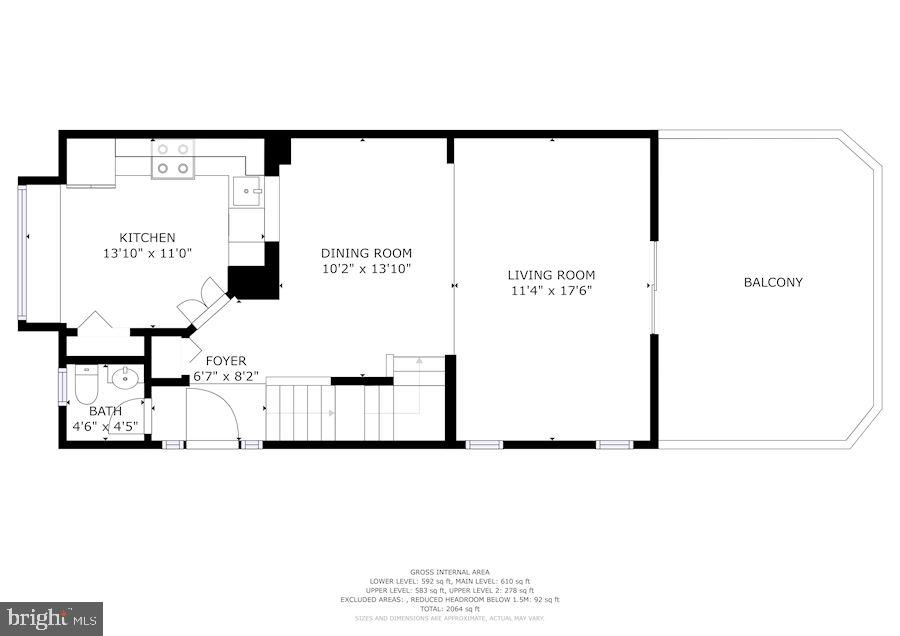 Floor Plan - Main Level - 8486 SPRINGFIELD OAKS DR, SPRINGFIELD