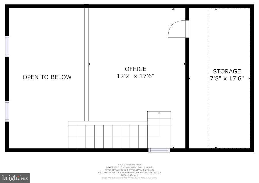Floor Plan - Upper Level #2 (Loft) - 8486 SPRINGFIELD OAKS DR, SPRINGFIELD