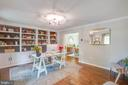 Formal living room with custom built-ins - 1 NEW BEDFORD CT, STAFFORD