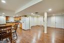 Basement Family Room with Hardwood Floors - 1546 W OLD MOUNTAIN RD, LOUISA