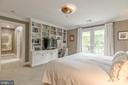 Main Level Owners Bedroom with en suite bath - 3629 ALBEMARLE ST NW, WASHINGTON