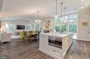 Expansive Island overlooking Great room - 3629 ALBEMARLE ST NW, WASHINGTON