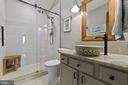 upstairs remodeled full bath - 36 POCAHONTAS LN, STAFFORD