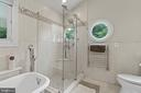 great shower in master bath - 36 POCAHONTAS LN, STAFFORD
