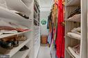 master closet with pull down cedar lined space - 36 POCAHONTAS LN, STAFFORD