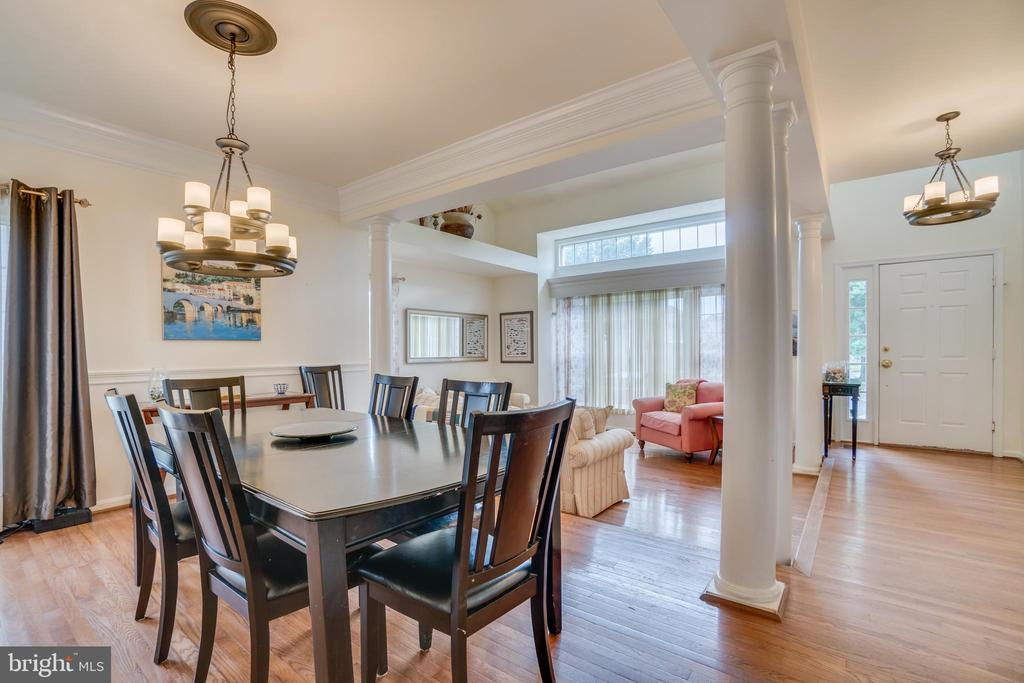 Open Dining & Living room - 5502 VILLAGE CENTER DR, CENTREVILLE