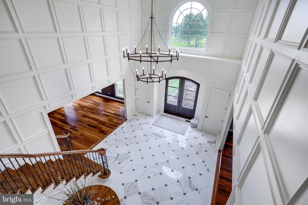View from Curved Staircase looking onto Foyer - 17814 RUNNING COLT PL, LEESBURG