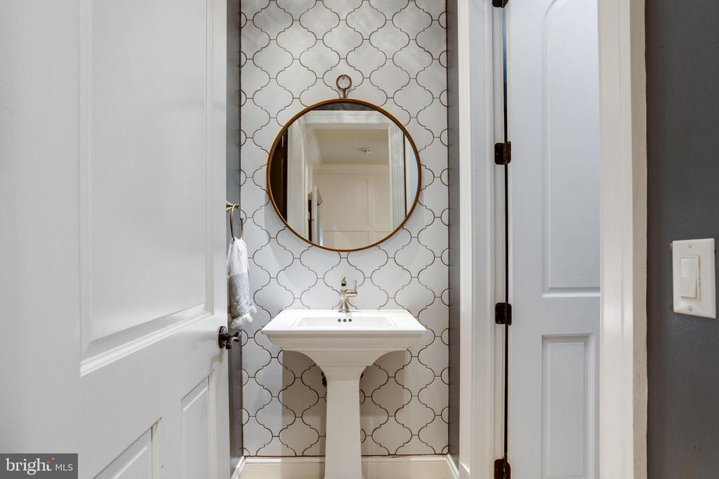 Half Bathroom off Kitchen and Mud Room Hallway - 17814 RUNNING COLT PL, LEESBURG