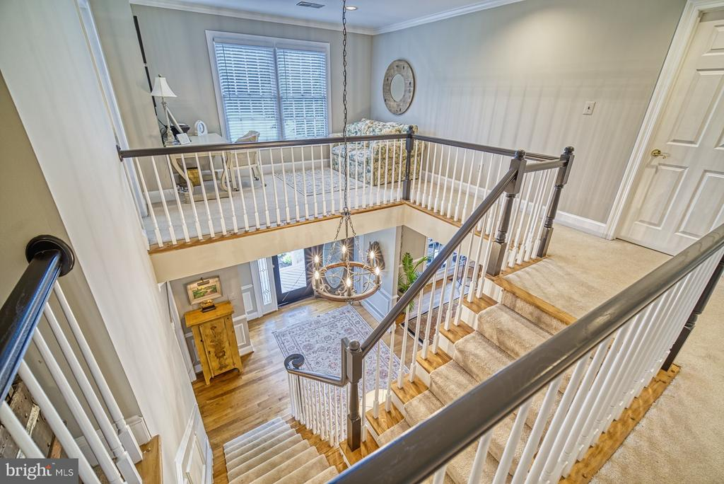 Grand Foyer with Upper Level Sitting Area - 7421 DUNQUIN CT, CLIFTON