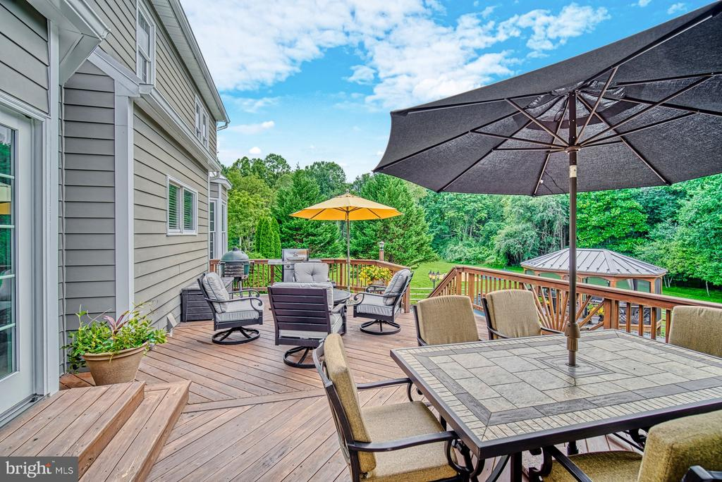 Gorgeous Deck Overlooking Pool w/ Tranquil Views - 7421 DUNQUIN CT, CLIFTON