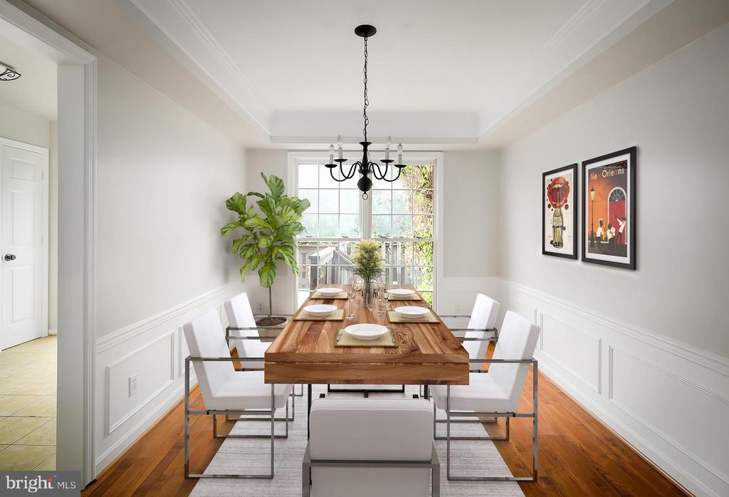 Virtually Staged Dining Room - 43473 PLANTATION TER, ASHBURN