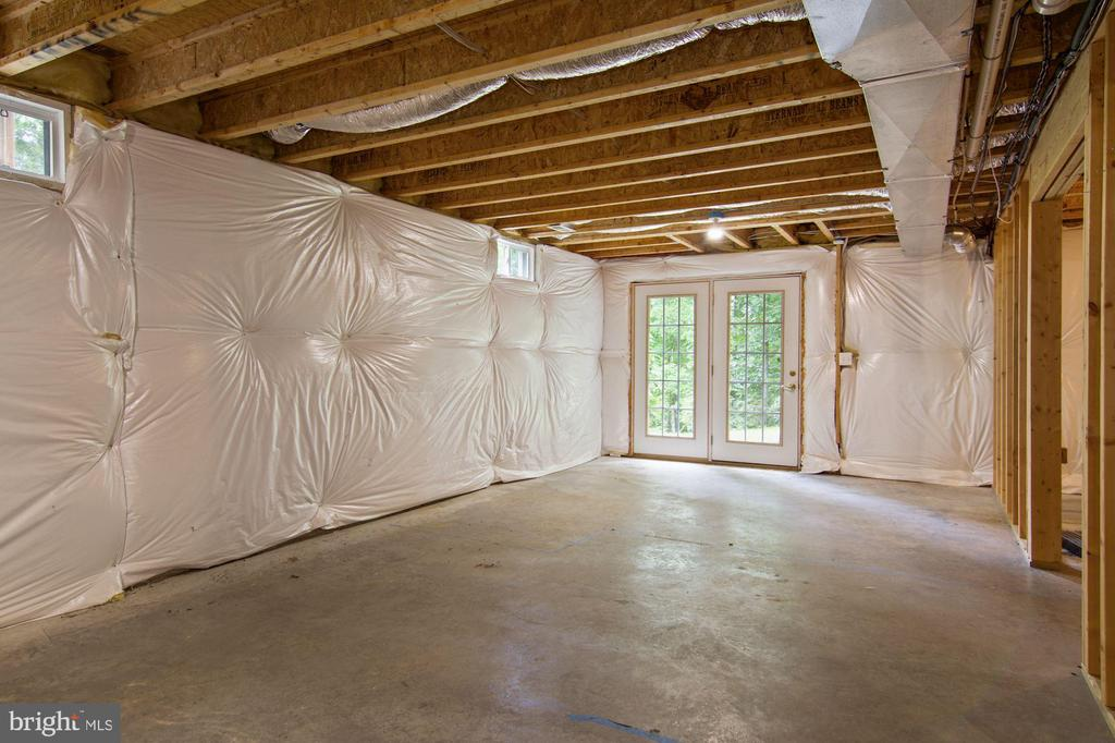 unfinished basement with walk out - 30831 PORTOBAGO TRL, PORT ROYAL