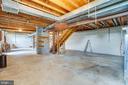 Unfinished basement - 50 CEDAR OAKS LN, FREDERICKSBURG