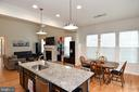 Upgraded Pendant Lights over Kitchen Island - 2522 SWEET CLOVER CT, DUMFRIES