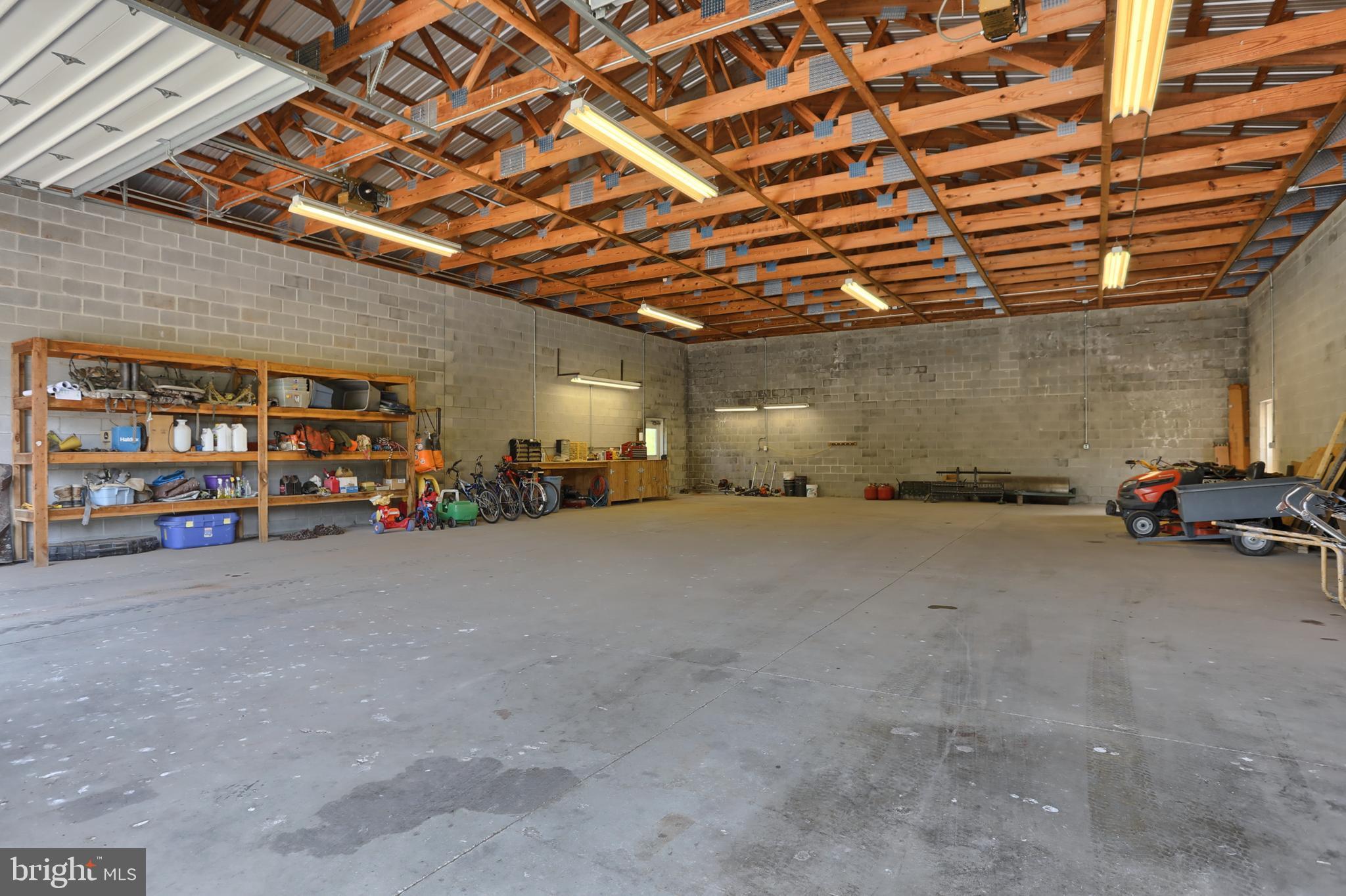 Interior of detached Garage