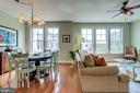 Open floor plan living/dining room - 1418 N RHODES ST #B414, ARLINGTON