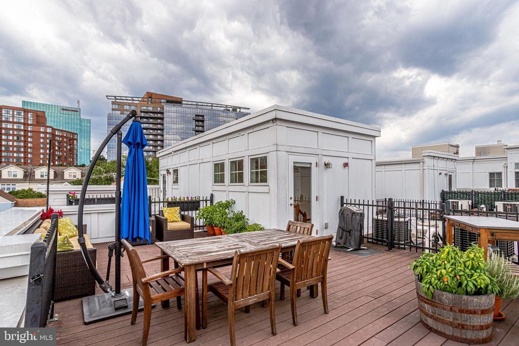 Private rooftop - 1418 N RHODES ST #B414, ARLINGTON