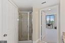 View of bedrrom #2 from ensuite bath. - 1205 N GARFIELD ST #608, ARLINGTON