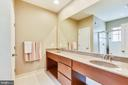 EXPANSIVE DOUBLE BOWL VANITY IN OWNER'S BATH - 44533 NEPONSET ST, ASHBURN