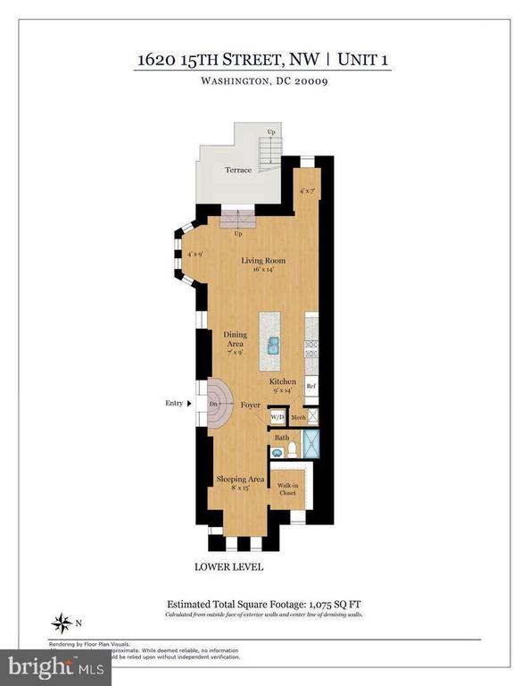 Unit 1 Floor Plan - 1620 15TH ST NW, WASHINGTON