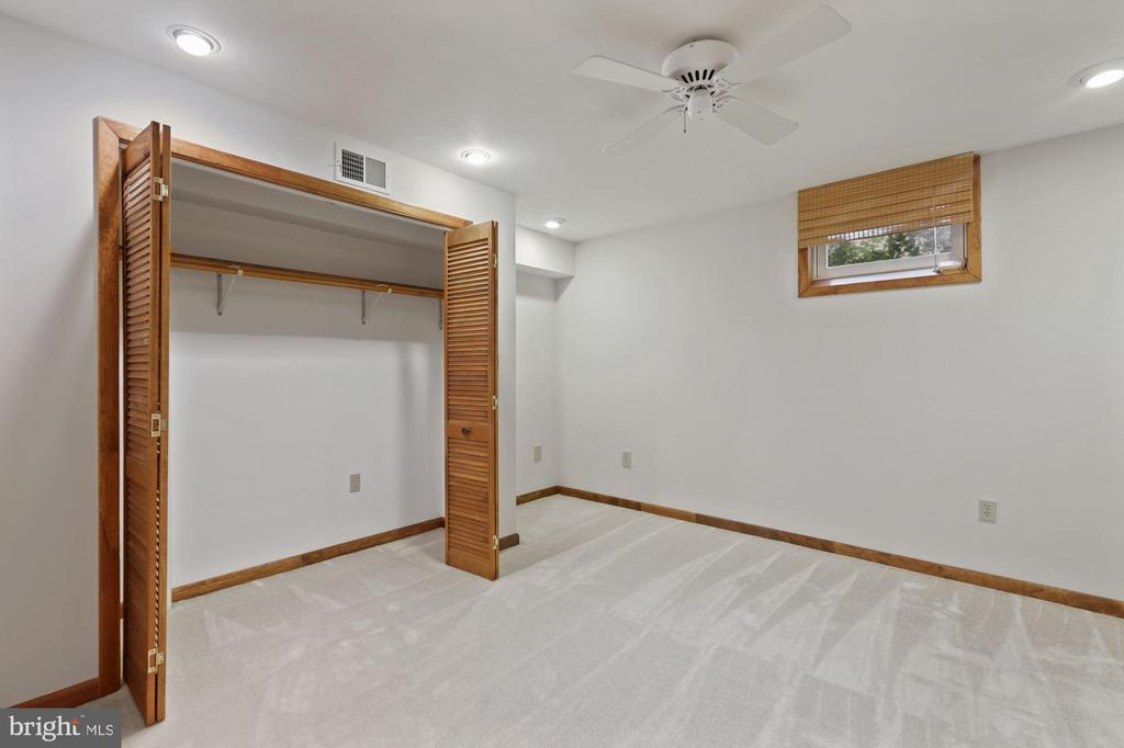 Lower Level Den with large closet - 6244 COVERED BRIDGE RD, BURKE
