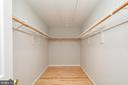 Owners Over-sized Walk In Closet with attic access - 12984 PINTAIL RD, WOODBRIDGE