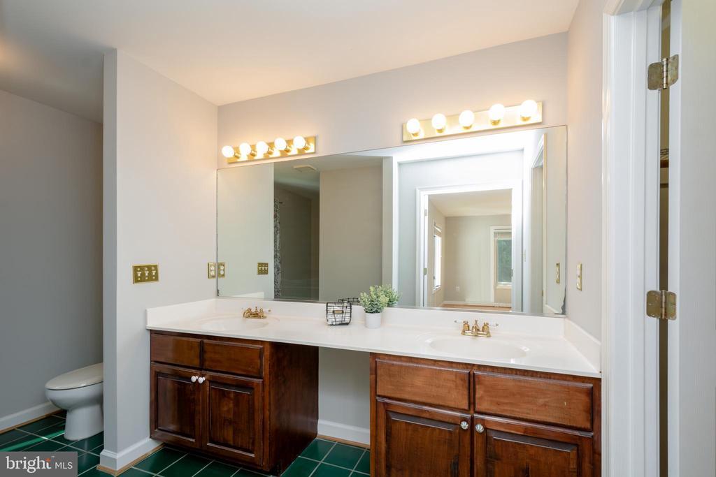 Primary Bathroom with  Custom Dual Cherry Vanity - 12984 PINTAIL RD, WOODBRIDGE