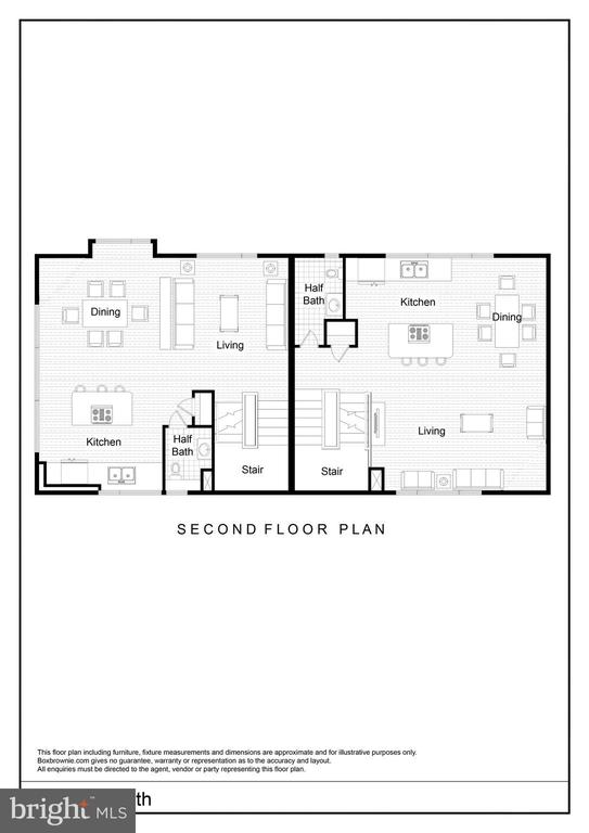 Second Floor Living/Kitchen Floor Plan - 2827 24TH RD S, ARLINGTON