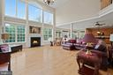 FAMILY ROOM WITH FIREPLACE - 108 HIGH RIDGE DR, STAFFORD