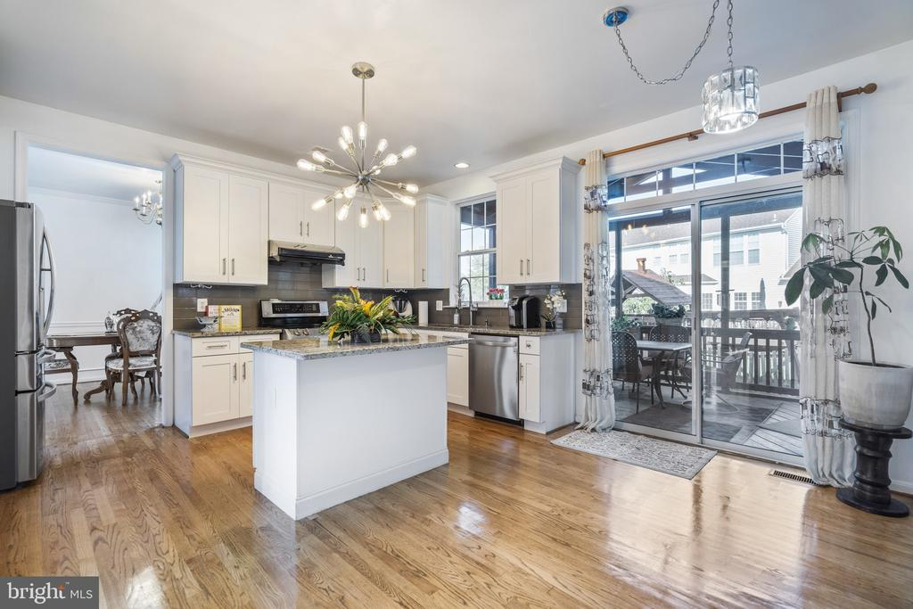 Recently renovated kitchen with luxury appliances - 20887 CHIPPOAKS FOREST CIR, STERLING