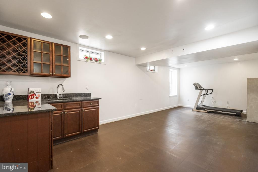 Basement with big recreation room with wet bar - 20887 CHIPPOAKS FOREST CIR, STERLING