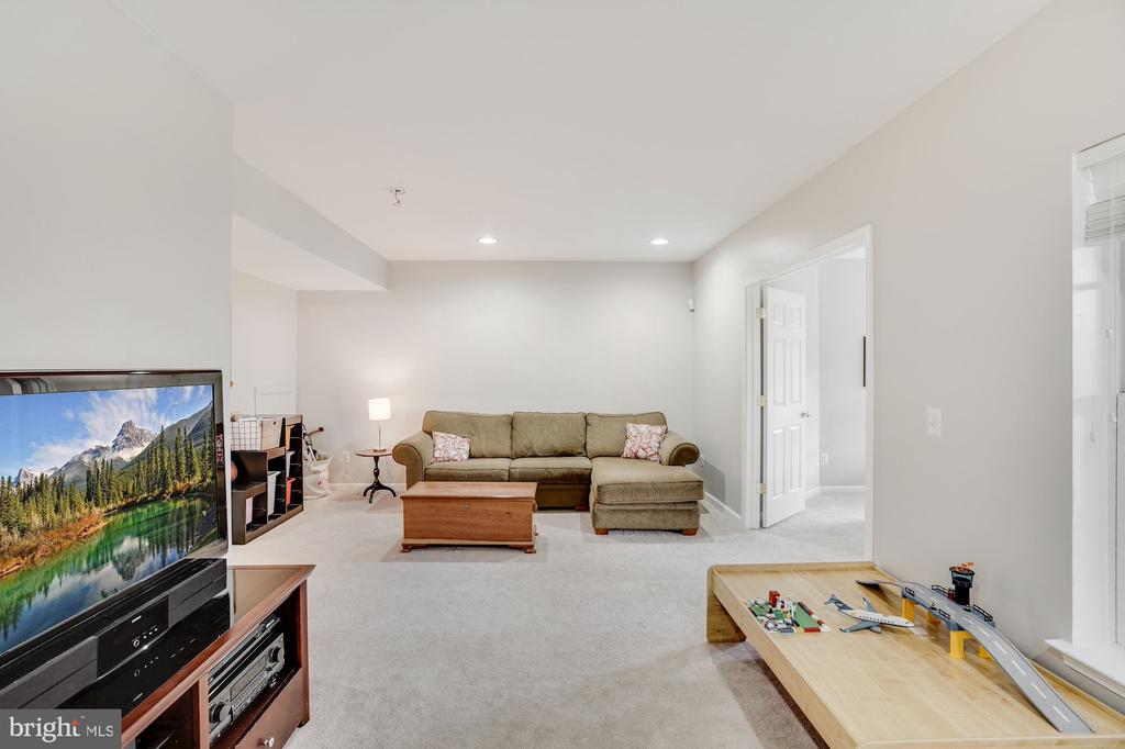 Lower Level recreation area - 18504 PINEVIEW SQ, LEESBURG