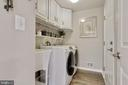Main level laundry room with built in cabinets - 802 SE TINA DR SE, LEESBURG