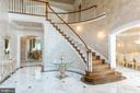 Foyer - sweeping stair - 6822 GEORGETOWN PIKE, MCLEAN