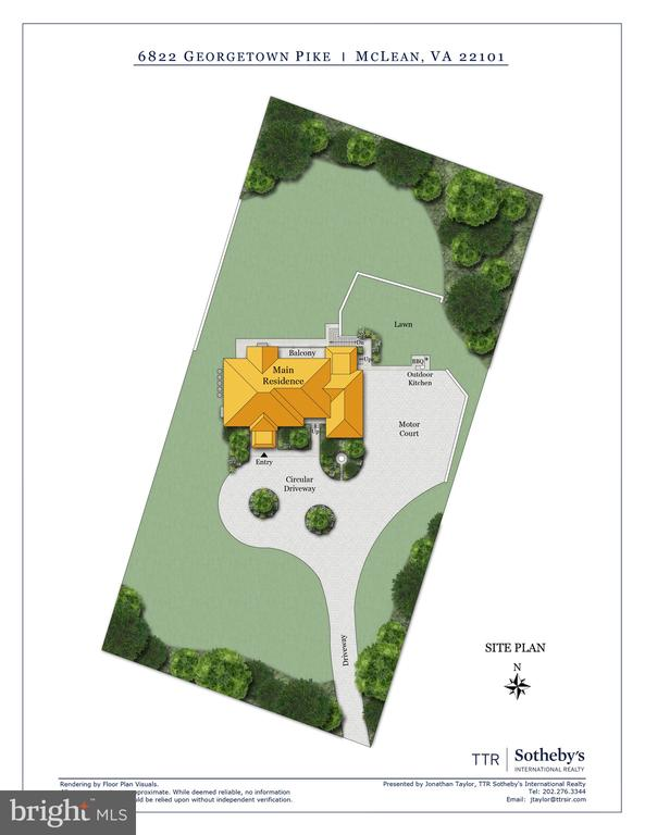 Site Plan - 6822 GEORGETOWN PIKE, MCLEAN