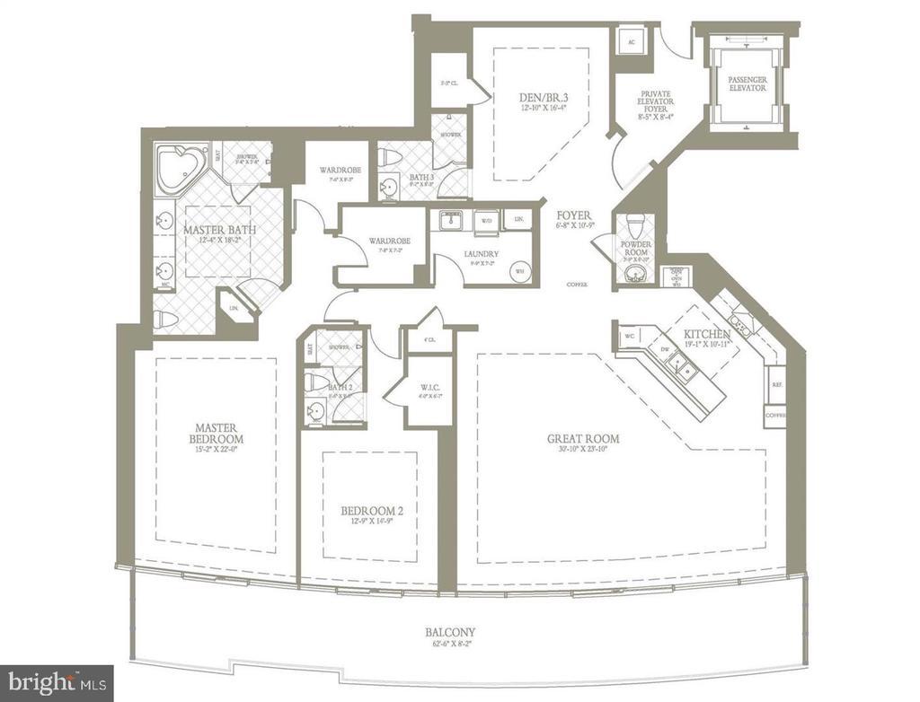 Floor Plan of #2009 - 1881 N NASH ST #2009, ARLINGTON