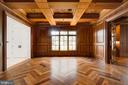 Chestnut floors and walnut beamed ceiling - 3301 FESSENDEN ST NW, WASHINGTON