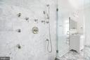 Italian marble bathrooms, steam showers - 3301 FESSENDEN ST NW, WASHINGTON