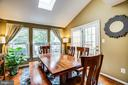 Dining area or family room opens to deck - 10003 GRASS MARKET CT, FREDERICKSBURG