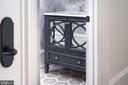 1 of 5 half bathrooms. Custom imported marble - 3301 FESSENDEN ST NW, WASHINGTON