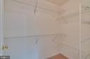 Master bedroom closet - 20024 NORTHVILLE HILLS TER, ASHBURN
