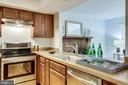 KITCHEN w/ PASS-THROUGH WINDOW INTO FAMILY ROOM - 2440 S WALTER REED DR #1, ARLINGTON