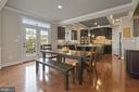 Large eat-in kitchen area with access to deck - 20669 PERENNIAL LN, ASHBURN