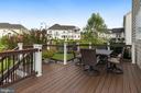 Maintenance free deck off kitchen - 20669 PERENNIAL LN, ASHBURN
