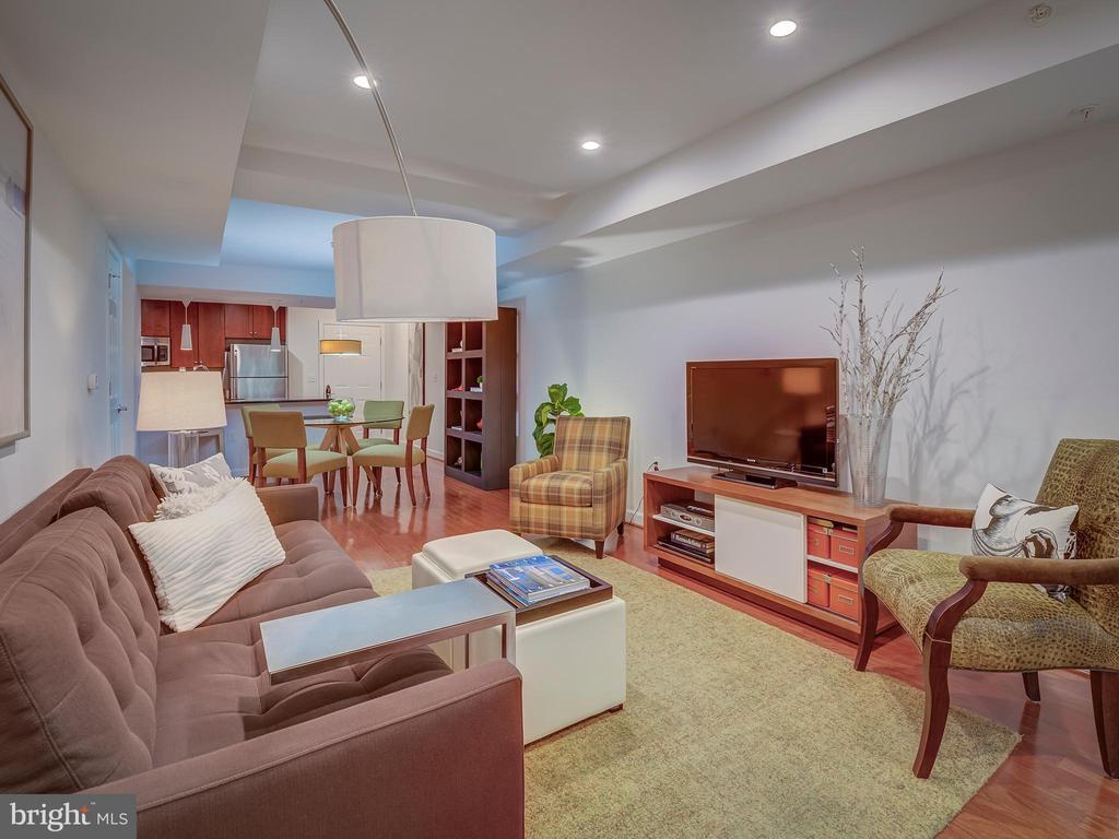 Living room / Dining/ Kitchen - 4141 S FOUR MILE RUN DR #104, ARLINGTON