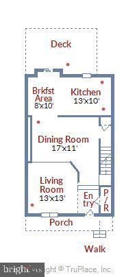 Main Level Floor Plan - 21115 FIRESIDE CT, STERLING