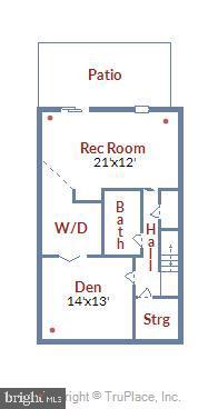 Lower Level Floor Plan - 21115 FIRESIDE CT, STERLING