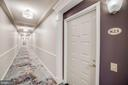 Hallway entrance close to elevators easy access - 19355 CYPRESS RIDGE TER #823, LEESBURG
