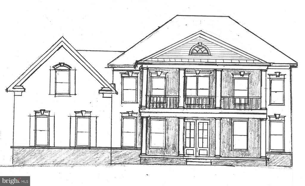 Grand Manor w/ Opt Stone Front & 2-Story Porch - 13909 YARBROUGH CT, FREDERICKSBURG