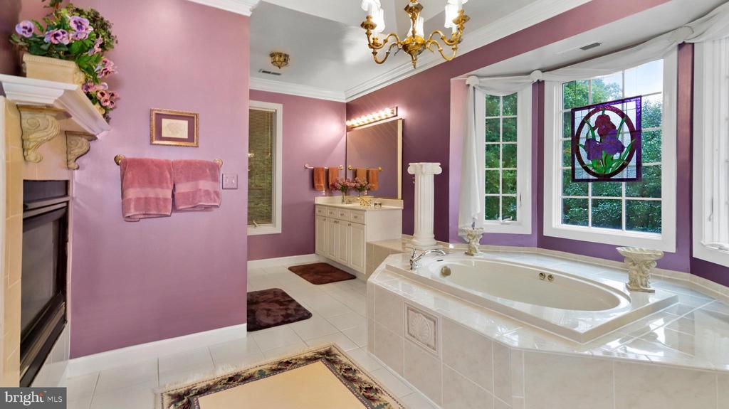 Master Bath-His space, shower, Bay window #4 of 4. - 1414 WYNHURST LN, VIENNA